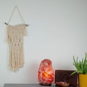 Small Macrame Wall Hanging Boho Decor FiberArt